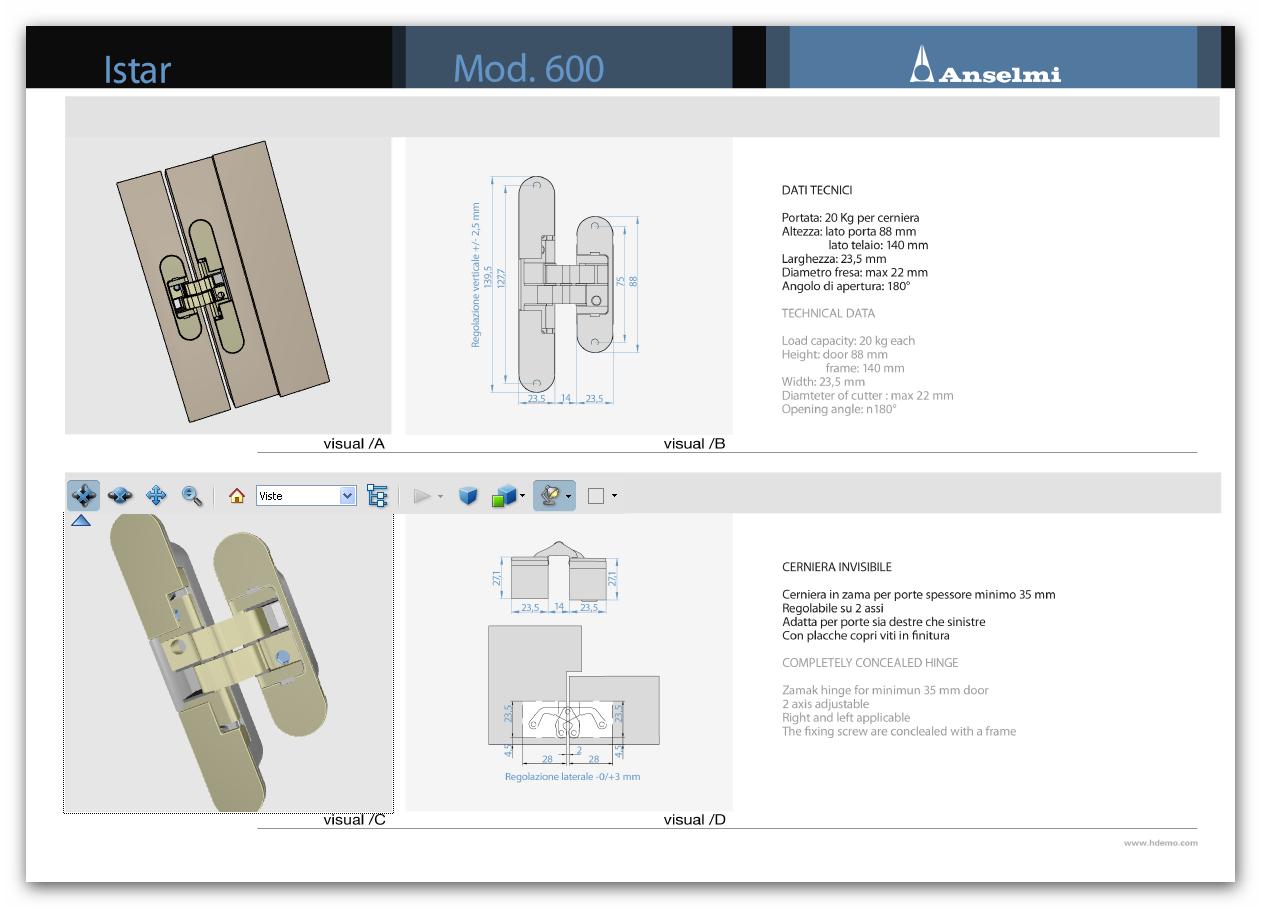 Pdf 3d per le cerniere invisibili anselmi for Mobili 3d dwg
