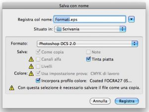 Formato DCS 2.0 in Photoshop