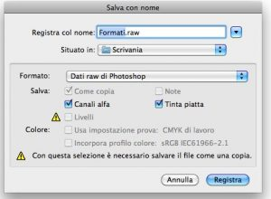 Formato raw in Photoshop