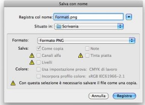 Formato PNG in Photoshop