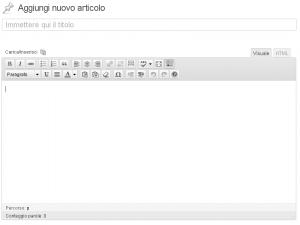 Editor visuale di WordPress